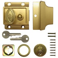 NL007 | 0517 NARROW TRADITIONAL NIGHTLATCH POLISHED BRASS BOXED