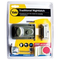 P77-EMB-PROMO | YALE TRADITIONAL NIGHTLATCH WITH BRASS RIM CYLINDER VISI PACK