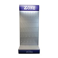 POS40 | ZONE MERCHANDISER DISPLAY STAND EMPTY WITH HOOKS