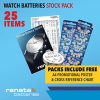 WBSP1/A | WATCH BATTERIES STOCK PACK