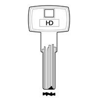XHV102 | CORBIN COR87 J-COR-37 DIMPLE KEY BLANK