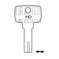 XHV174 | DM54 STS DIMPLE KEY BLANK