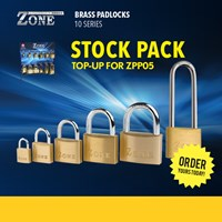 ZPP05/A | ZONE BRASS PADLOCKS STOCK PACK ONLY FOR ZPP05 DISPLAY STAND