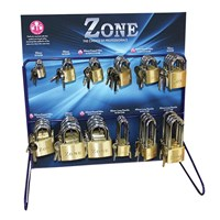 ZPP05 | ZONE PADLOCK STAND 12 HOOK WIRE FRAME
